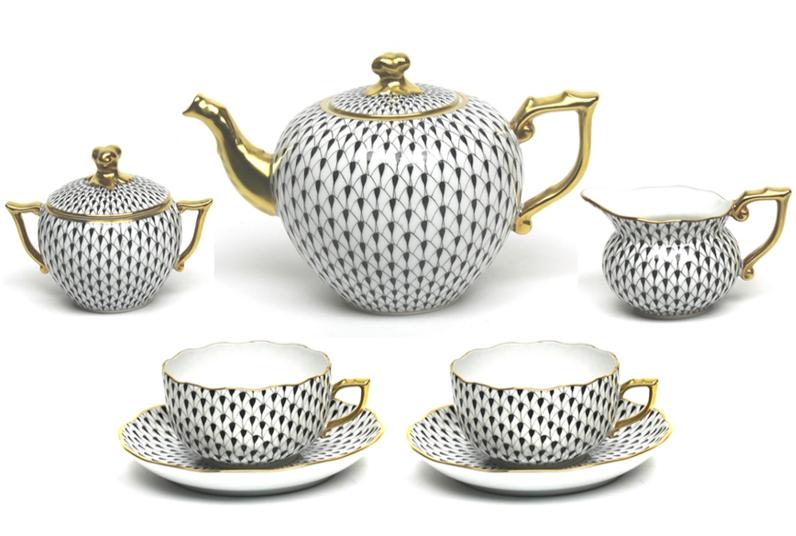 Vieux Herend Tea Set Tea And Coffee Time Pia Rubio